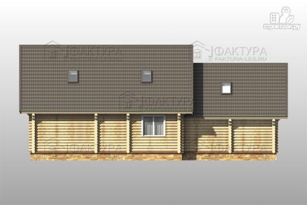 Фото 6: проект дом из бревна с гаражом на две машины