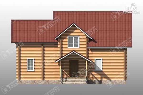 Фото 4: проект большой дом из бревна 220 мм