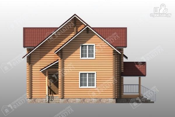 Фото 7: проект большой дом из бревна 220 мм