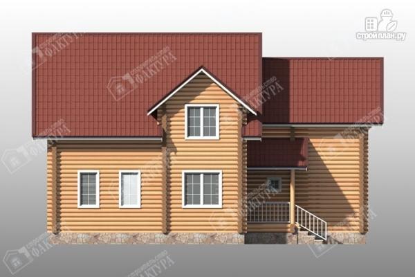 Фото 6: проект большой дом из бревна 220 мм