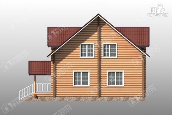 Фото 5: проект большой дом из бревна 220 мм