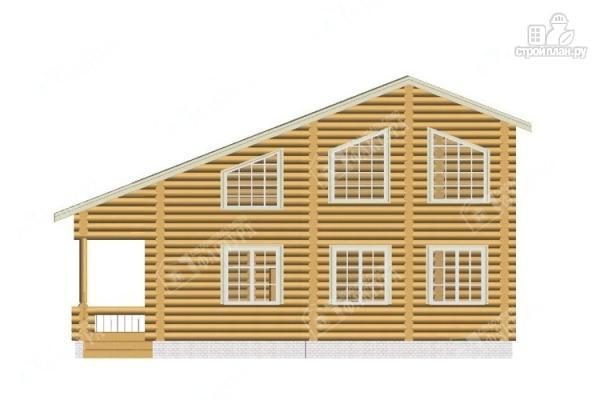 Фото 4: проект просторный бревенчатый дом для большой семьи