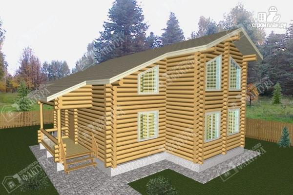 Фото: проект просторный бревенчатый дом для большой семьи