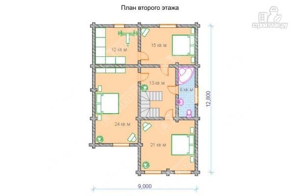 Фото 3: проект просторный бревенчатый дом для большой семьи