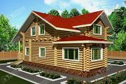 Фото: бревенчатый дом с двухсветным залом