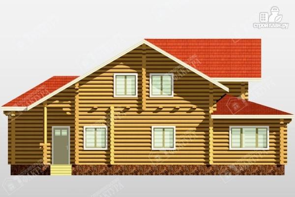 Фото 4: проект бревенчатый дом с двухсветным залом