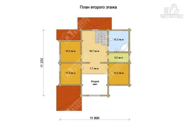 Фото 3: проект бревенчатый дом с двухсветным залом