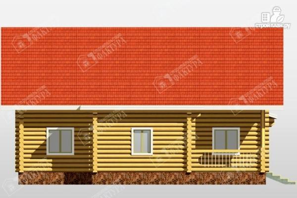 Фото 7: проект бревенчатый дом с двухсветным залом