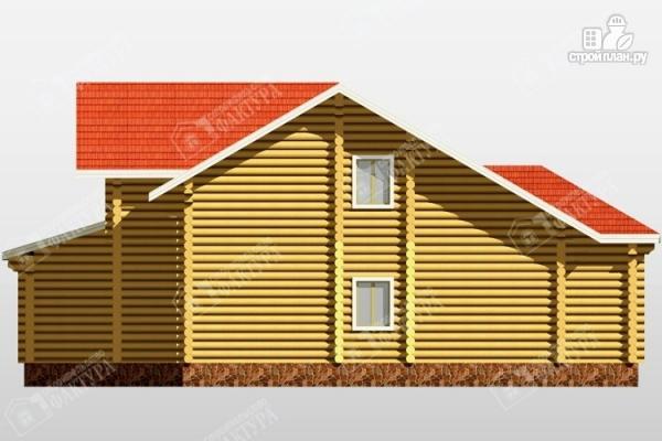 Фото 6: проект бревенчатый дом с двухсветным залом