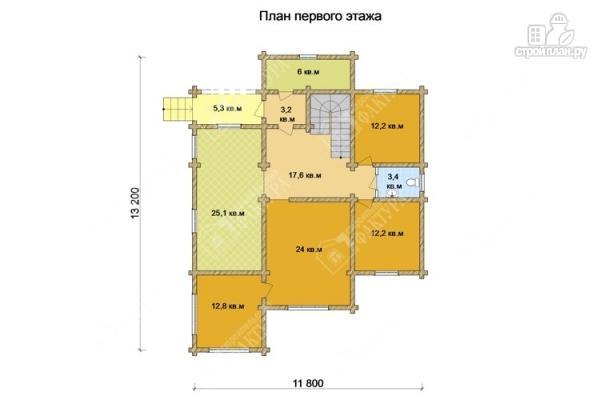 Фото 2: проект бревенчатый дом с двухсветным залом