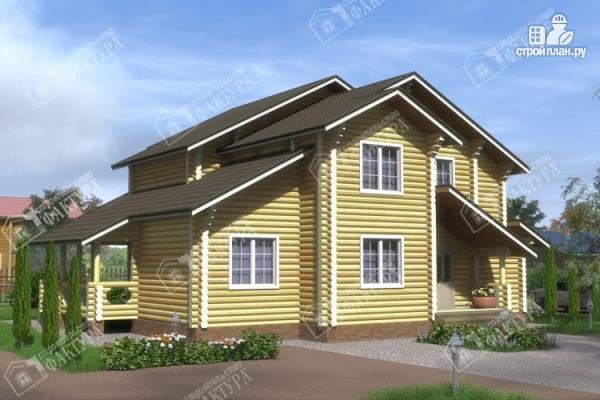 Фото: проект дом усадьба из бревна
