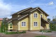 Проект дом усадьба из бревна