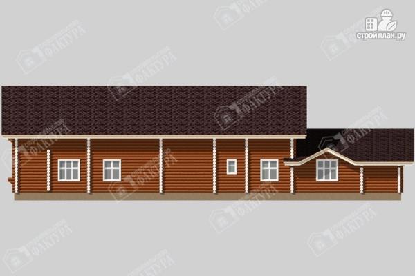 Фото 6: проект дом-поместье из бревна