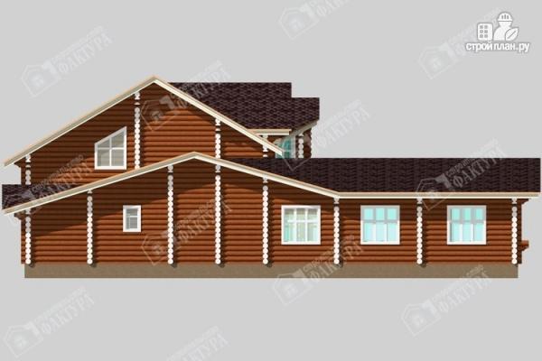 Фото 7: проект дом-поместье из бревна