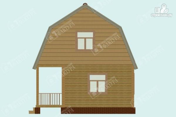 Фото 5: проект дом из пиленного бруса