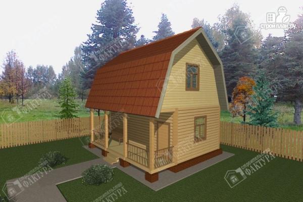 Фото: проект дом из пиленного бруса