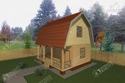 Проект дом из пиленного бруса