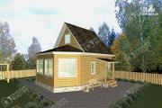 Проект дом из бруса 6х8