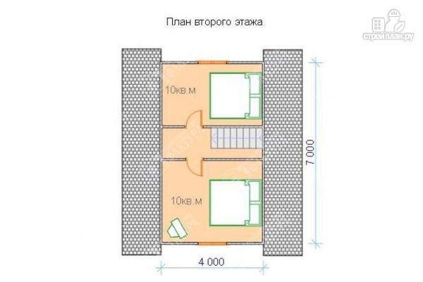 Фото 3: проект дом из бруса 7х7