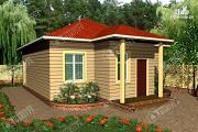 Проект одноэтажный дом из бруса