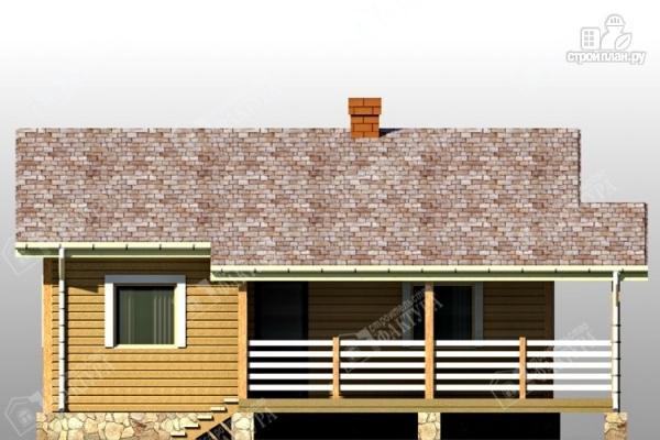 Фото 6: проект дом из бруса с террасой
