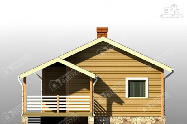 Фото 3: проект дом из бруса с террасой