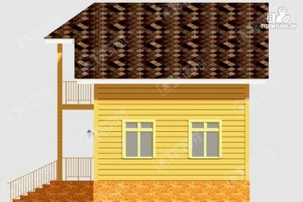 Фото 5: проект дом из бруса с балконом