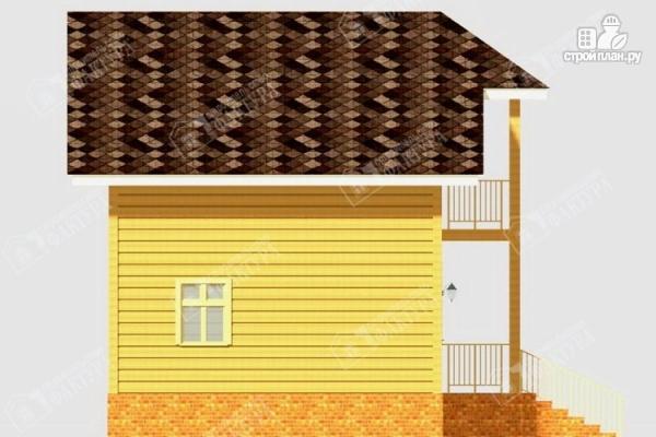 Фото 7: проект дом из бруса с балконом