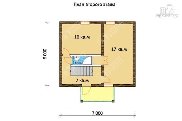 Фото 3: проект дом из бруса с балконом