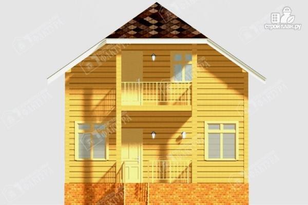 Фото 4: проект дом из бруса с балконом