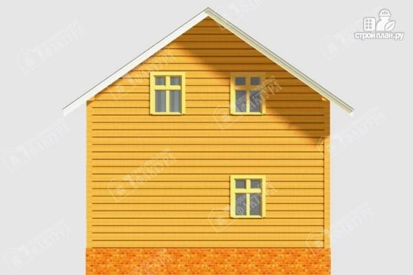 Фото 6: проект дом из бруса с балконом