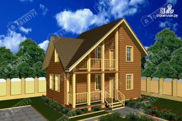 Фото: проект дом из бруса 6х8