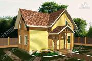 Проект дом 6х9 из бруса