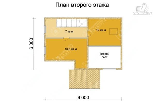 Фото 3: проект дом 6х9 из бруса