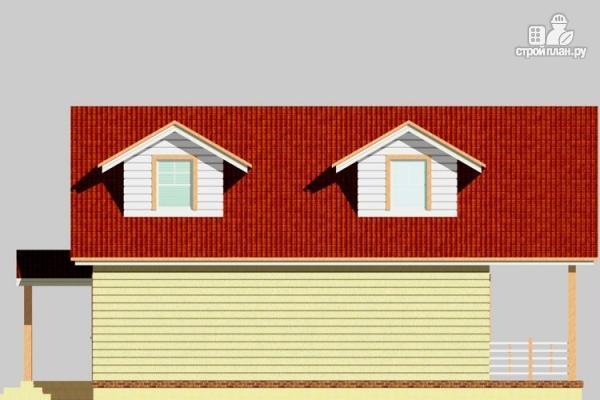 Фото 7: проект дом из бревна с мансардным балконом