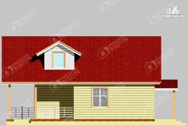 Фото 5: проект дом из бревна с мансардным балконом