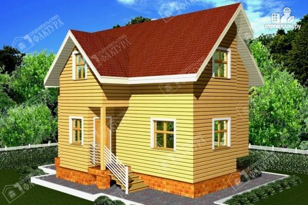 Фото: проект двухэтажный дом из бруса