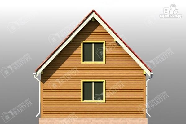 Фото 6: проект дом из бруса 7х11 с балконом