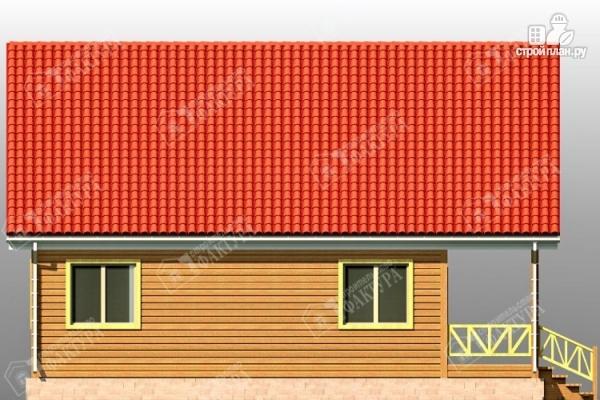 Фото 7: проект дом из бруса 7х11 с балконом