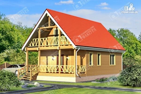 Фото: проект дом из бруса 7х11 с балконом
