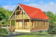 Проект дом из бруса 7х11 с балконом