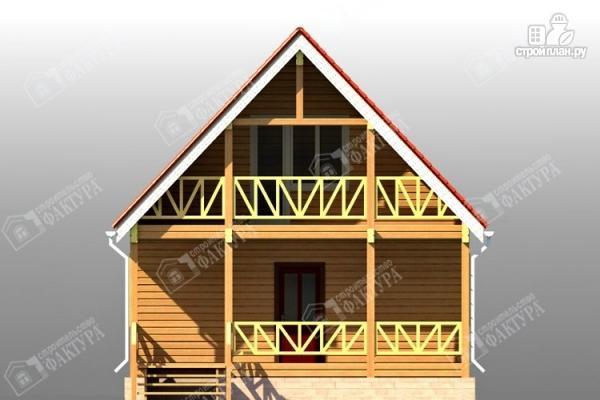 Фото 4: проект дом из бруса 7х11 с балконом