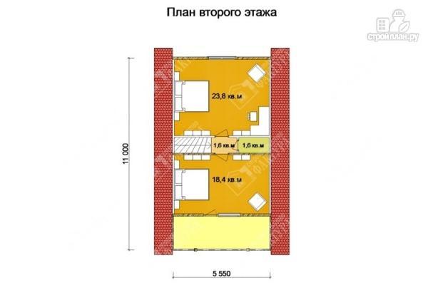 Фото 3: проект дом из бруса 7х11 с балконом