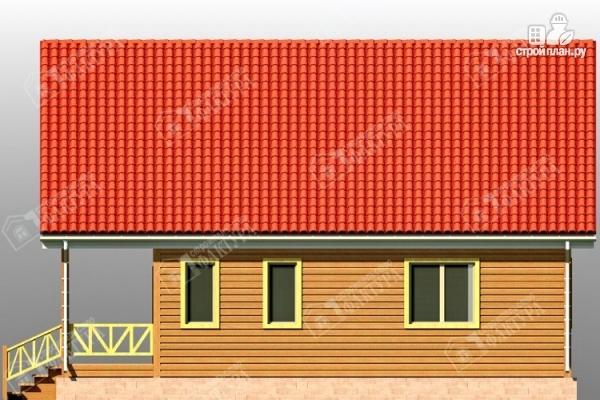 Фото 5: проект дом из бруса 7х11 с балконом