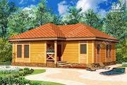 Проект одноэтажный дом из бруса 10х11