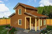 Проект дом из бруса 6х10