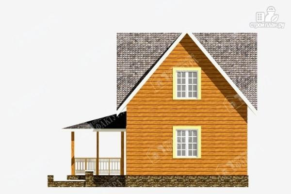 Фото 5: проект дом 7х9 из бруса с крыльцом-террасой