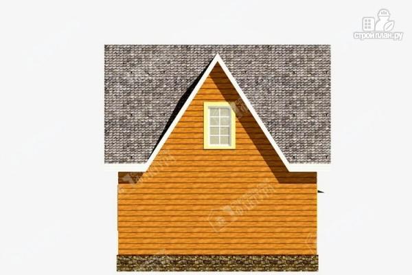 Фото 6: проект дом 7х9 из бруса с крыльцом-террасой