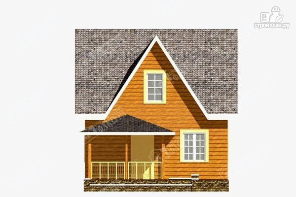 Фото 4: проект дом 7х9 из бруса с крыльцом-террасой