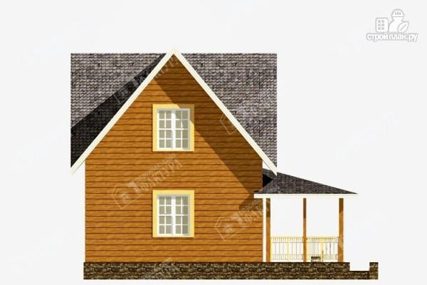 Фото 7: проект дом 7х9 из бруса с крыльцом-террасой